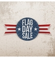 Flag Day Sale festive Label with Text and Shadow vector image vector image