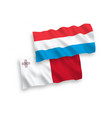 flags malta and luxembourg on a white vector image