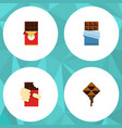 flat icon sweet set of chocolate bar shaped box vector image vector image