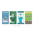 flat medical vertical banners vector image