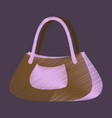 flat shading style icon clothes ladies handbag vector image
