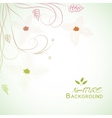 floral nature background concept vector image vector image