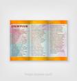 flyer design template with light modern hi vector image