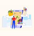 food shop online delivery service vector image vector image