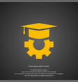 graduation cap icon simple gear element symbol vector image vector image