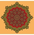Green and Red Oriental Mandala vector image vector image