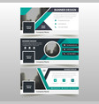 green corporate business banner template vector image vector image