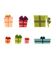 holiday present gift boxes set vector image vector image