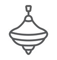 humming top line icon toy and play vector image vector image