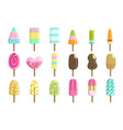 ice creams on stick set vector image