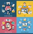 internet marketing design concept vector image vector image