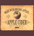 label for apple cider in retro style