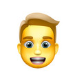 man emoji icon medium-light skin tone blond hair vector image