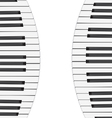 music background with piano keys vector image vector image