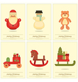 New Year Mini Posters Collection vector image vector image
