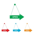 Open sign Colorfull set vector image
