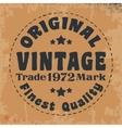 Original vintage stamp vector image vector image