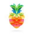 pineapple design on white vector image