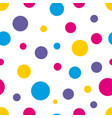 polka dot seamless colorful background vector image vector image