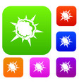 powerful explosion set color collection vector image vector image