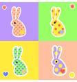 rabbit4 vector image vector image