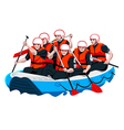 Rafting team vector image vector image