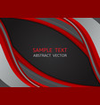 red and black color wave abstract background vector image vector image