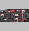 red and black element for slide infographic on vector image vector image