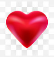 red valentine heart isolated on transparent vector image vector image