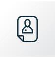resume icon line symbol premium quality isolated vector image vector image