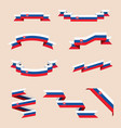 ribbons or banners in colors of slovak flag vector image vector image