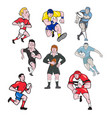 rugplayer mascot cartoon set vector image vector image