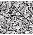 seamless ethnic doodle monochrome pattern vector image vector image