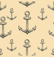 seamless pattern with anchors design element vector image