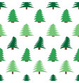 seamless pattern with spruces vector image vector image