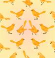 Seamless texture golden birds yellow background vector image vector image