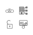 security outline icons set vector image vector image