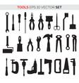 set repair tools vector image vector image
