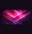 Shiny hexagon neon template futuristic digital