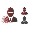 sparkle dotted halftone engineer icon vector image vector image