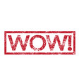 stamp text wow vector image