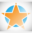 star element in segmented geometric style star vector image