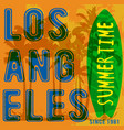 summer tropical poster los angeles vector image vector image