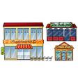 Supermarket pub and pawnshop vector image vector image