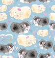 texture hamsters lovers vector image vector image