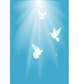 three white dove vector image vector image
