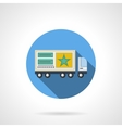 Transportable advertising flat color icon vector image
