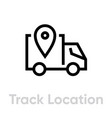truck location delivery icon editable line vector image vector image