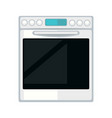 white modern stove vector image