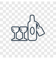 wine bottle concept linear icon isolated on vector image vector image